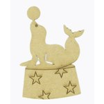 Grapevine Designs and Studio - Chipboard Shapes - Performing Seal