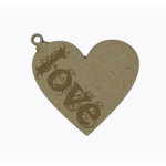 Grapevine Designs and Studio - Chipboard Shapes - Love Heart Ornament - Small