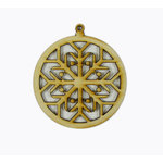 Grapevine Designs and Studio - Christmas - Wood Shapes - Snowflake Ornament
