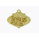 Grapevine Designs and Studio - Christmas - Wood Shapes - Jesus is the Reason Ornament