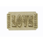 Grapevine Designs and Studio - Chipboard Shapes - Love Ticket