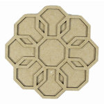 Grapevine Designs and Studio - Chipboard Shapes - Geometric Layered Flower