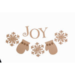 Grapevine Designs and Studio - Christmas - Chipboard Shapes - Joy Snowflake Banner