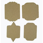 Grapevine Designs and Studio - Chipboard Shapes - Fancy Tags - Set of 4