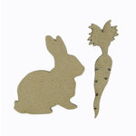 Grapevine Designs and Studio - Chipboard Shapes - Bunny with Carrot