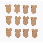 Grapevine Designs and Studio - Chipboard Shapes - Itty Bitty Pieces - Onesie