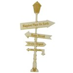Grapevine Designs and Studio - Wood Shapes - Happiest Place Sign Post - Small