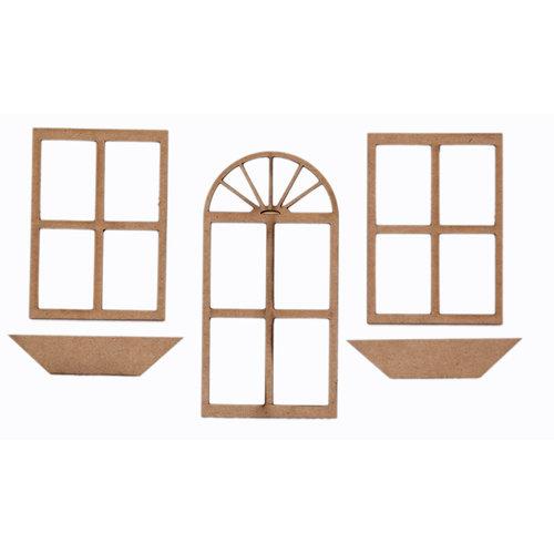 Grapevine Designs And Studio Chipboard Shapes Door Window Set