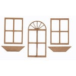 Grapevine Designs and Studio - Chipboard Shapes - Door and Window Set