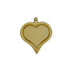 Grapevine Designs and Studio - Wood Shapes - Heart Pendant