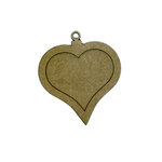 Grapevine Designs and Studio - Chipboard Shapes - Heart Pendant