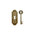 Grapevine Designs and Studio - Chipboard Shapes - Flourish Door Plate and Key