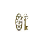 Grapevine Designs and Studio - Chipboard Shapes - Circle Door Plate and Key