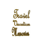 Grapevine Designs and Studio - Wood Shapes - Travel Vacation Memories Words