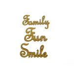 Grapevine Designs and Studio - Wood Shapes - Family Fun Smile Words