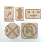 Grapevine Designs and Studio - Chipboard Shapes - Road Signs