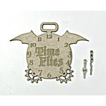 Grapevine Designs and Studio - Chipboard Shapes - Time Flies