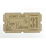 Grapevine Designs and Studio - Chipboard Shapes - Halloween Ticket