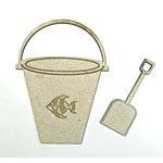 Grapevine Designs and Studio - Chipboard Shapes - Sand Bucket