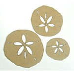 Grapevine Designs and Studio - Chipboard Shapes - Sand Dollar Sea Shells