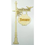 Grapevine Designs and Studio - Halloween - Wood Shapes - Spooktacular Sign Post