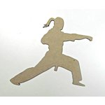 Grapevine Designs and Studio - Chipboard Shapes - Karate Girl