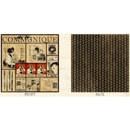 Graphic 45 - Communique Collection - 12 x 12 Double Sided Paper - Communique
