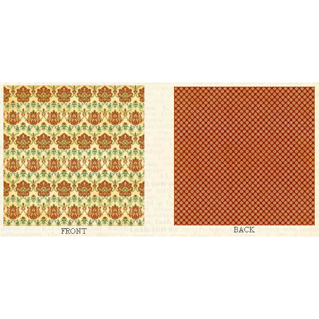 Graphic 45 - Fashionista Collection - 12 x 12 Double Sided Paper - Le Fleur