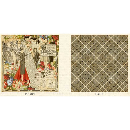 Graphic 45 - Fashionista Collection - 12 x 12 Double Sided Paper - Tre Chic