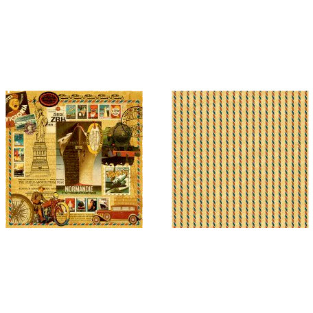 Graphic 45 - Transatlantique Collection - 12 x 12 Double Sided Paper - Transatlantique