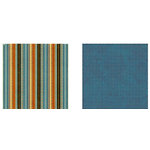 Graphic 45 - Transatlantique Collection - 12 x 12 Double Sided Paper - Souvenir Stripe