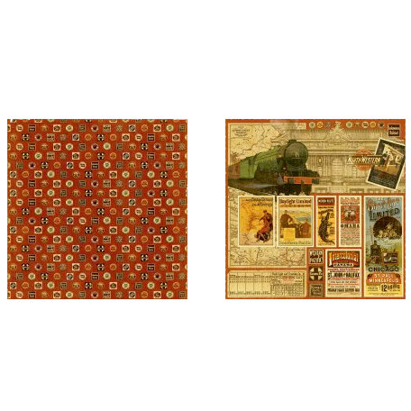 Graphic 45 - Transatlantique Collection - 12 x 12 Double Sided Paper - All Aboard
