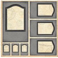 Graphic 45 - Times Nouveau Collection - 12x12 Die Cuts - Frames