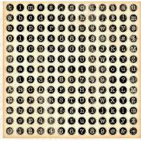Graphic 45 - Times Nouveau Collection - 12x12 Die Cuts - Alphabet