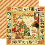 Graphic 45 - Christmas Past Collection - 12 x 12 Double Sided Paper - Jolly Old St. Nicholas