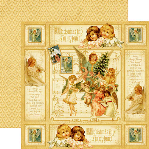 Graphic 45 - Christmas Past Collection - 12 x 12 Double Sided Paper - Ode to Joy