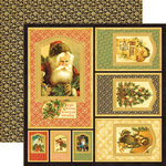 Graphic 45 - Christmas Past Collection - 12 x 12 Die Cuts - Frames