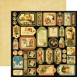Graphic 45 - Christmas Past Collection - 12 x 12 Die Cuts - Tags