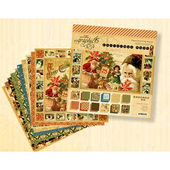 Graphic 45 - Christmas Past Collection - 12 x 12 Paper Pad