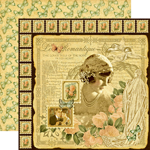 Graphic 45 - Le Romantique Collection - 12 x 12 Double Sided Paper - Le Romantique