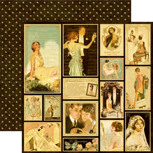 Graphic 45 - Le Romantique Collection - 12 x 12 Double Sided Paper - Sweetheart of Mine