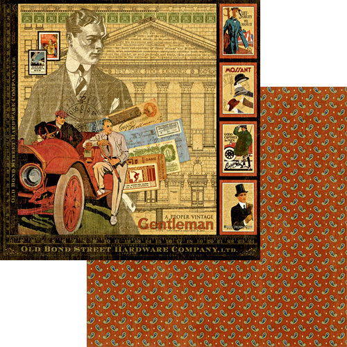 Graphic 45 - A Proper Gentleman Collection - 12 x 12 Double Sided Paper - A Proper Gentleman