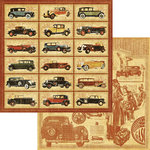 Graphic 45 - A Proper Gentleman Collection - 12 x 12 Double Sided Paper - On the Boulevard