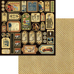 Graphic 45 - A Proper Gentleman Collection - 12 x 12 Die Cuts - Tags