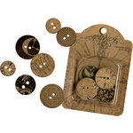 Graphic 45 - Staples Collection - Chipboard Buttons