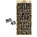 Graphic 45 - Staples Collection - Cardstock Stickers - Alphabet