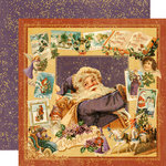 Graphic 45 - Christmas Past Collection - Deluxe Edition - 12 x 12 Double Sided Paper - Visions Of Sugarplums