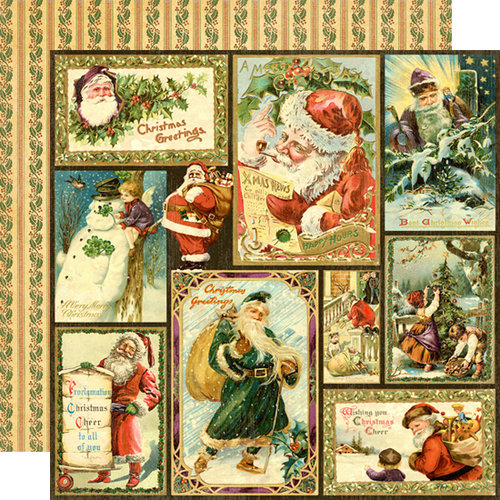 Graphic 45 - Christmas Past Collection - Deluxe Edition - 12 x 12 Double Sided Paper - Victorian Greetings