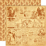 Graphic 45 - Christmas Past Collection - Deluxe Edition - 12 x 12 Double Sided Paper - Christmas Wishes