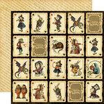 Graphic 45 - HalloweÂ'en in Wonderland Collection - 12 x 12 Double Sided Paper - Jabberwocky